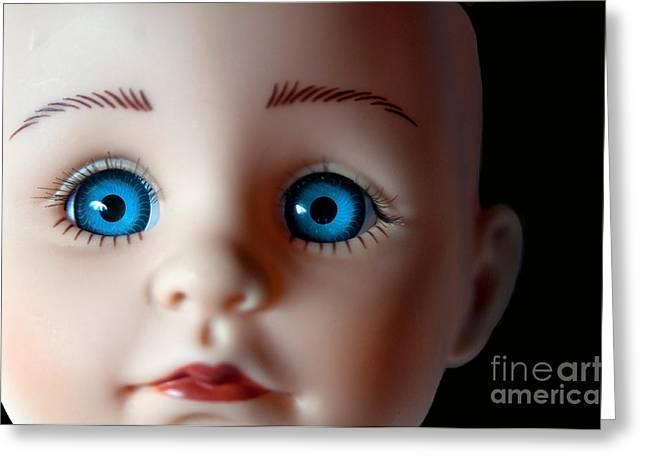 Doll Eyes Greeting Card by Dan Holm