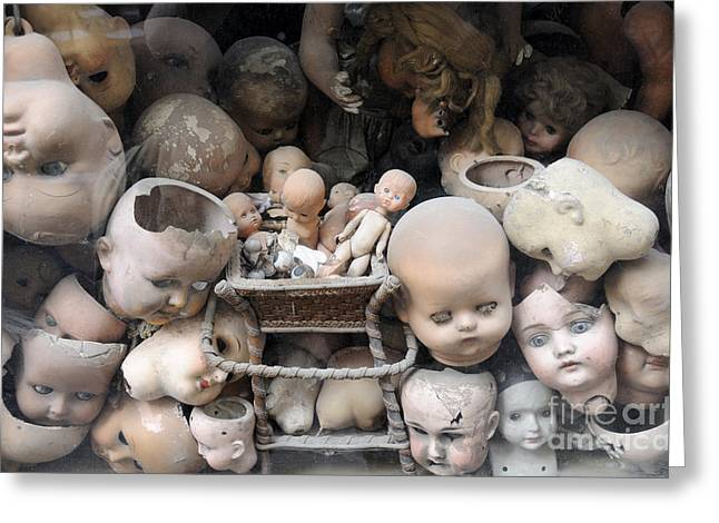 Doll Parts Greeting Card by Ed Rooney