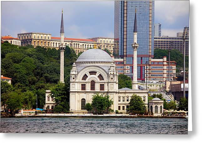 Dolmabahce Mosque In Istanbul Greeting Card