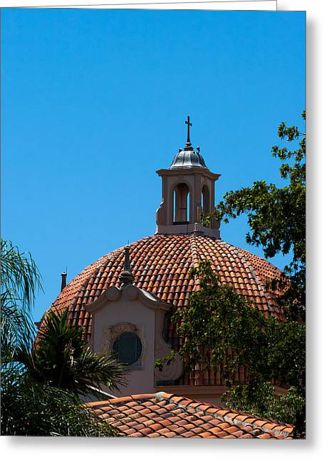 Greeting Card featuring the photograph Dome At Church Of The Little Flower by Ed Gleichman