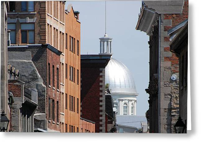 Greeting Card featuring the photograph Dome Bonsecours Market by John Schneider