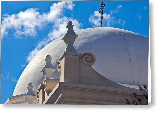 Dome Of San Xavier Mission Greeting Card