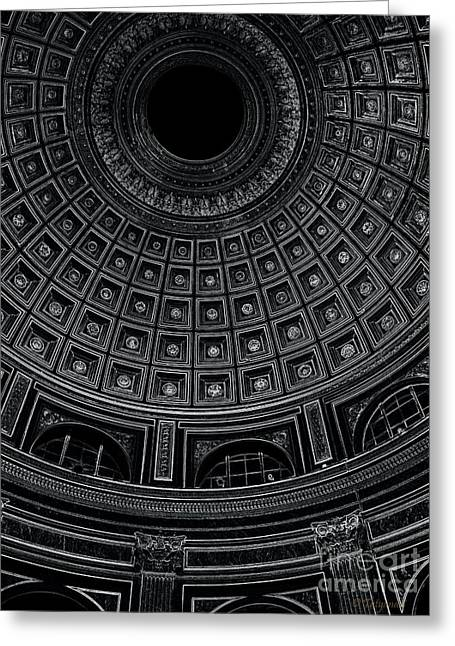 Greeting Card featuring the photograph Dome. Vatican. Black by Tanya  Searcy