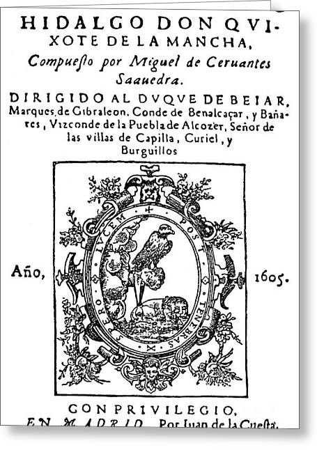 Don Quixote, Title Page Greeting Card