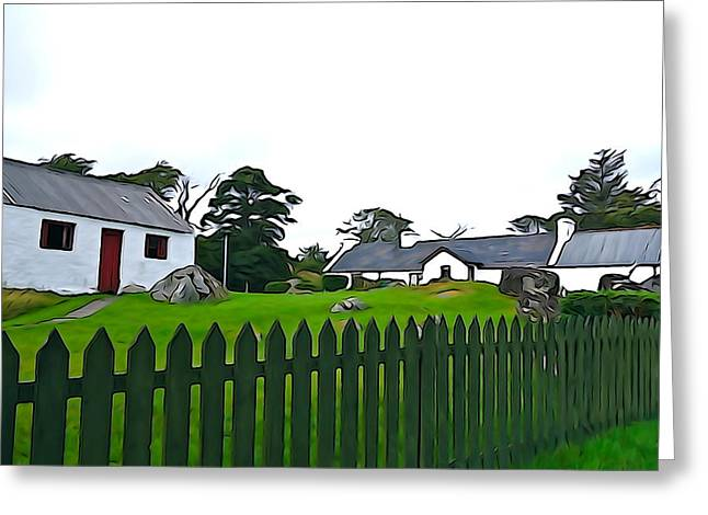 Greeting Card featuring the photograph Donegal Home by Charlie and Norma Brock