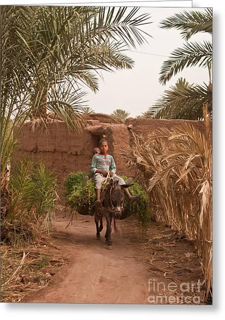 Donkey Ride Greeting Card by Nabucodonosor Perez