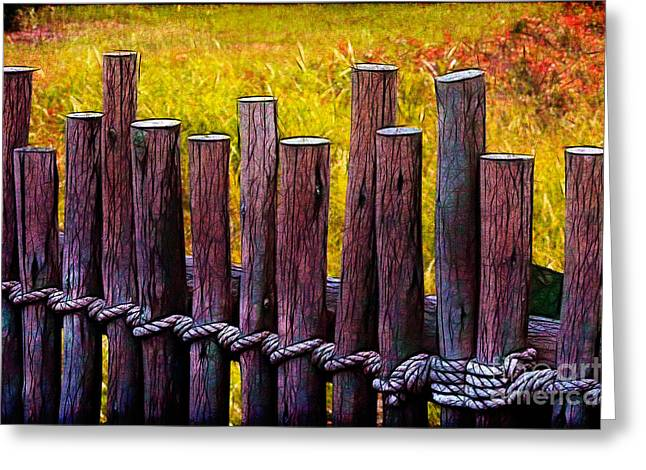 Don't Fence Me In Greeting Card by Judi Bagwell