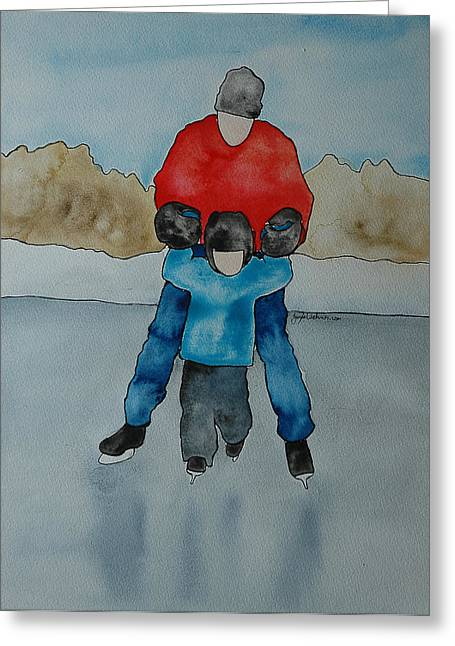 Don't Let Go Dad Greeting Card by Twyla Wehnes