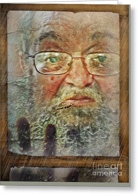 Greeting Card featuring the digital art Don't You See Me?  I'm Here. .  by Rhonda Strickland