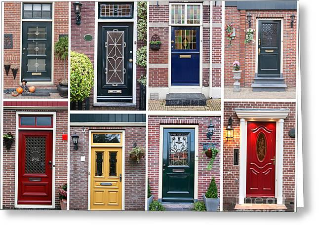 Greeting Card featuring the photograph Door Background by Ariadna De Raadt