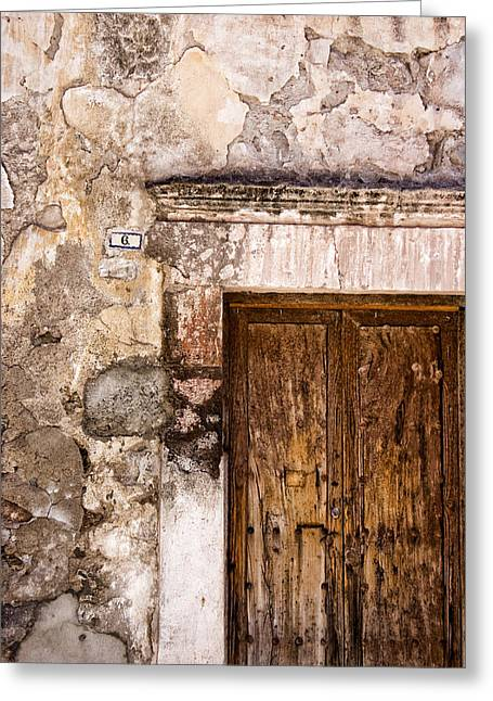 Door Detail Mexico Greeting Card by Carol Leigh