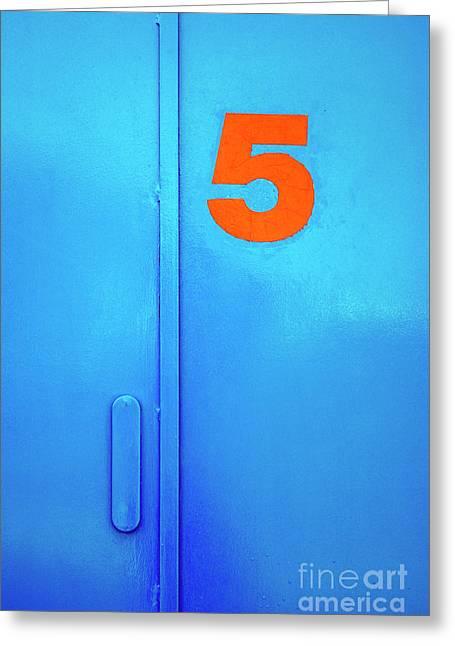Door Five Greeting Card by Carlos Caetano