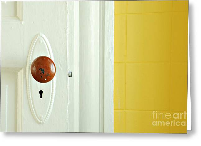 Door Greeting Card by HD Connelly
