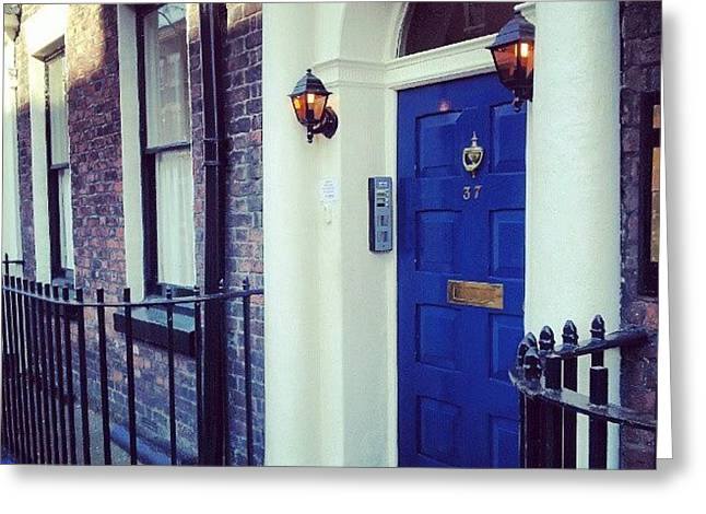 #door #house #light #liverpool #uk Greeting Card