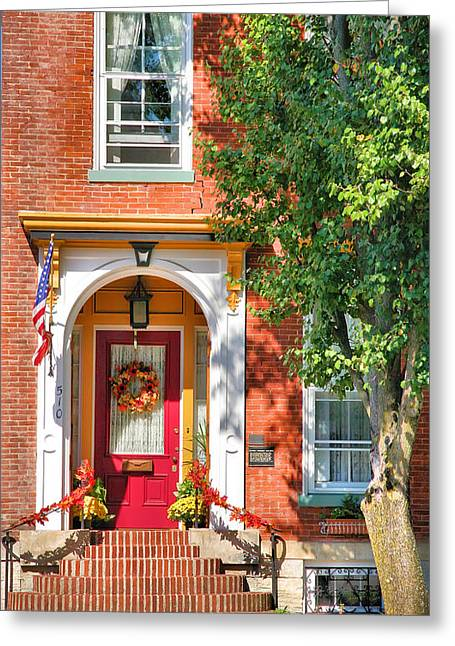 Door In Historic District I Greeting Card by Steven Ainsworth