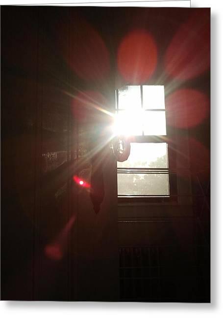 Door Light Greeting Card by Ronald Mcduff