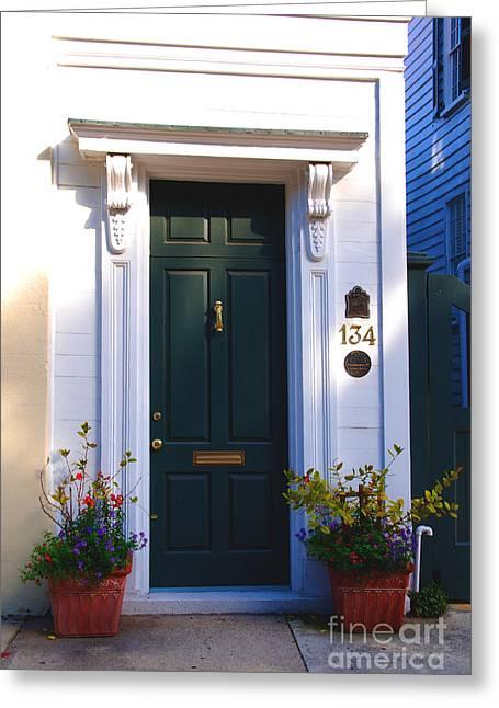 Door Nr 134 In Charleston Sc Greeting Card