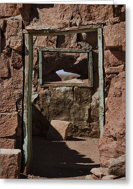 Door To The Window Of My Soul Greeting Card