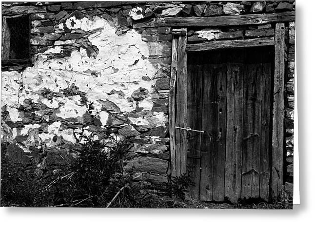 Door  Window And The Wall  Greeting Card