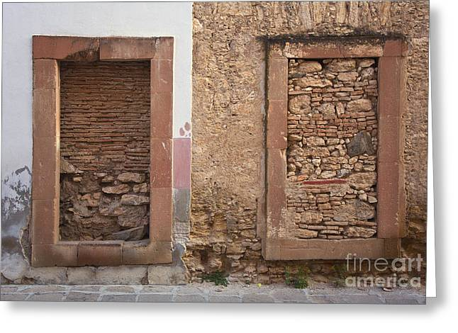 Greeting Card featuring the photograph Doors - Mineral De Pozos Mexico by Craig Lovell