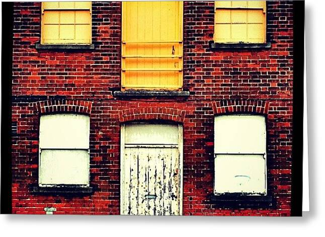 Doors And Windows #wall #bricks #door Greeting Card