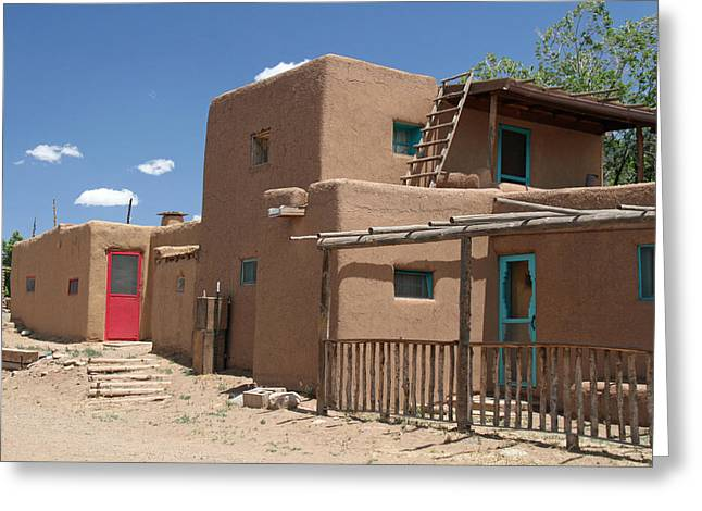 Doors Of Taos Pueblo Greeting Card