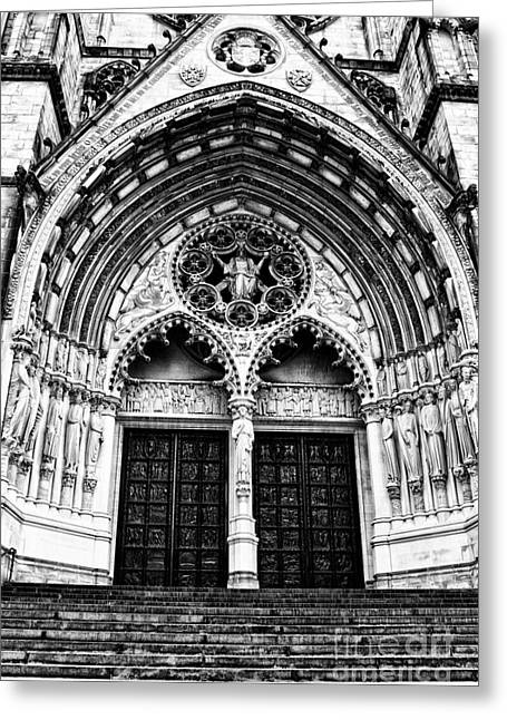 Doors To Saint John The Divine Greeting Card