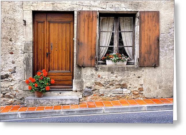 Greeting Card featuring the photograph Doorway And Window In Provence France by Dave Mills