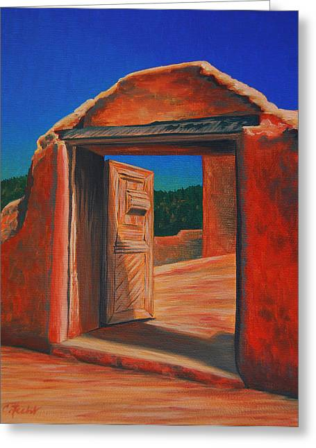 Doorway To Las Trampas Greeting Card