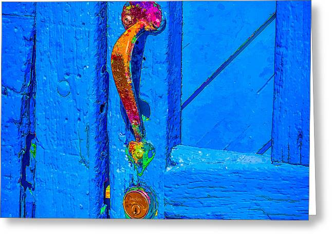 Doorway To Santa Fe Greeting Card by Ken Stanback