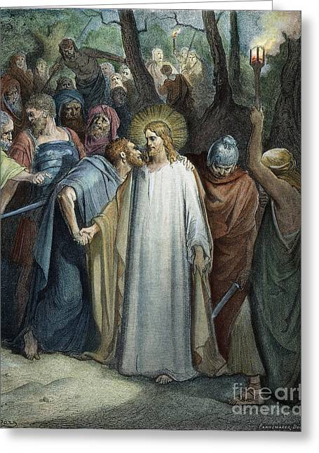 Dor�: Betrayal Of Christ Greeting Card by Granger