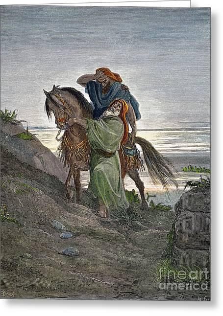Dor�: Good Samaritan Greeting Card by Granger
