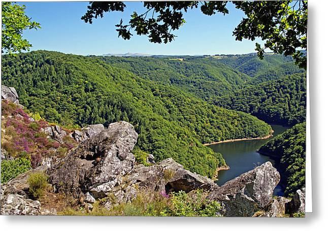 Dordogne Valley Greeting Card by Rod Jones