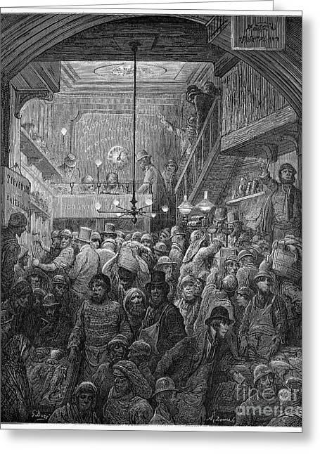 Dore: Billingsgate, 1872 Greeting Card