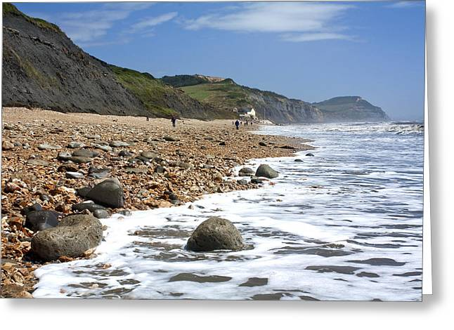 Greeting Card featuring the photograph Dorset Coast by Shirley Mitchell