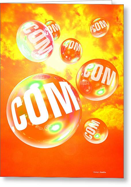 Dot Com Bubbles Greeting Card by Victor Habbick Visions