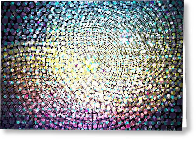 Dots Colors Greeting Card by Atiketta Sangasaeng