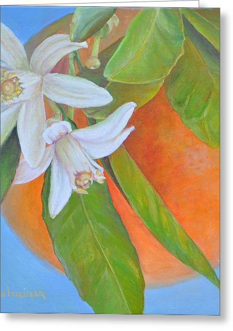 Double Fleur Greeting Card by Muriel Dolemieux
