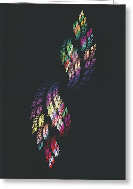 Double Rainbow Flame Greeting Card by Ken Walters