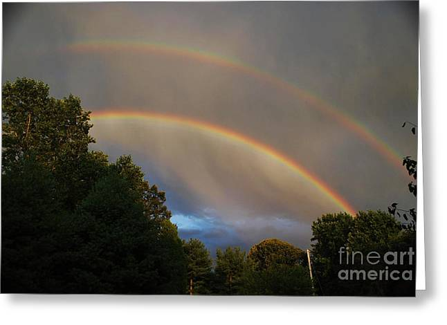 Double Rainbow Greeting Card by Science Source
