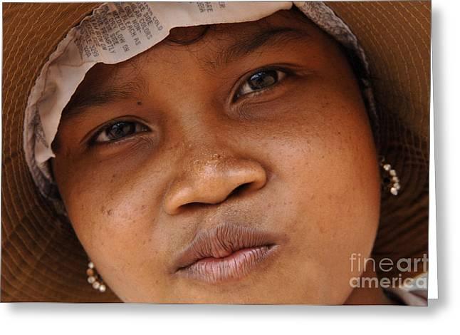 Cambodian Girl Greeting Card