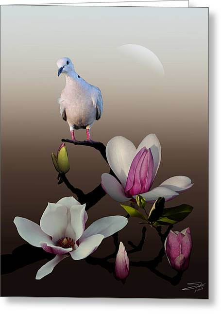 Dove And Magnolia Greeting Card