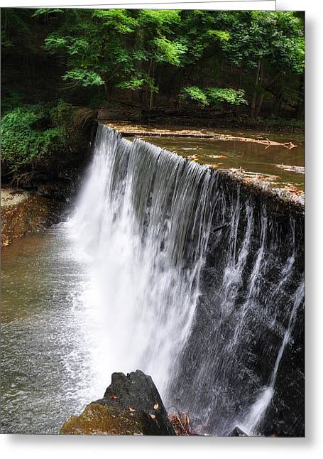 Dove Lake Waterfall - Gladwyne Greeting Card