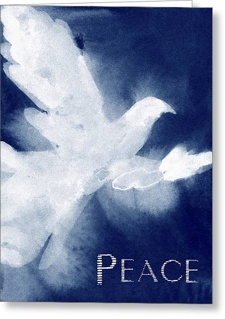 Dove Peace Holiday Card Greeting Card by Beverly Brown