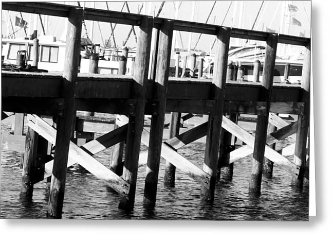 Down By The Marina Greeting Card by Nicholas Evans