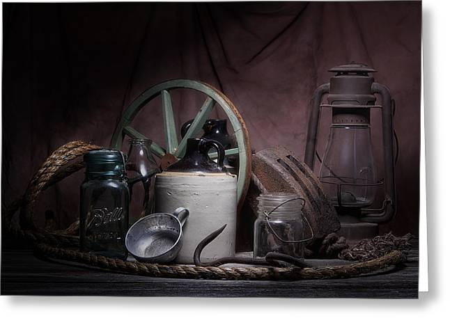 Down On The Farm Still Life Greeting Card by Tom Mc Nemar