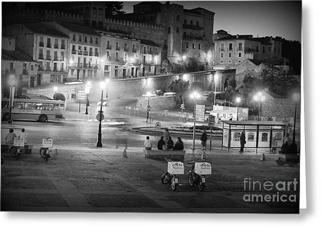 Down Town Segovia In Spain Greeting Card by Trude Janssen