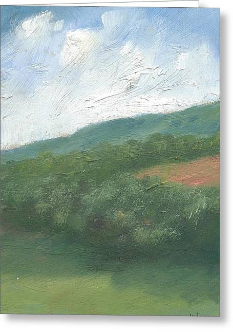 Downland And Trees Greeting Card by Alan Daysh