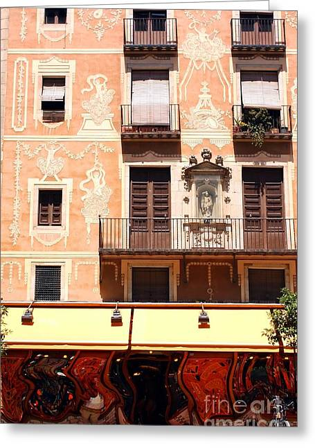 Downtown Barcelona Greeting Card by Sophie Vigneault