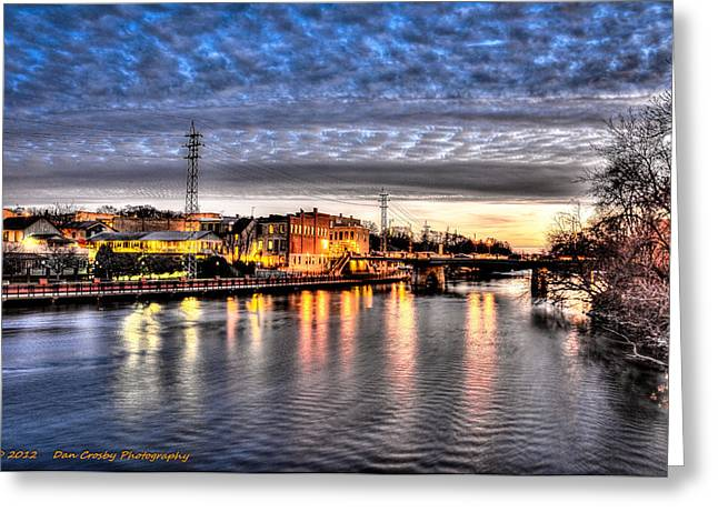 Downtown Batavia Illinois Greeting Card by Dan Crosby